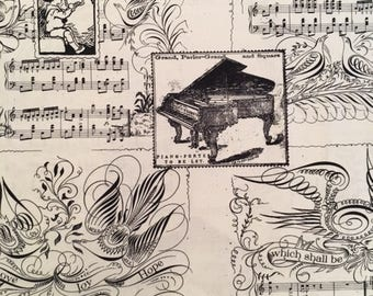 Musical Score from Angel Band by J Wecker-Frisch for Quilting Treasures