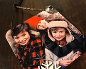 Personalized Photo Ornaments - Metal Ornament - Stocking Stuffer - Gift for Grandparents - Gift for New Mom - Teacher Gift - 1st Christmas