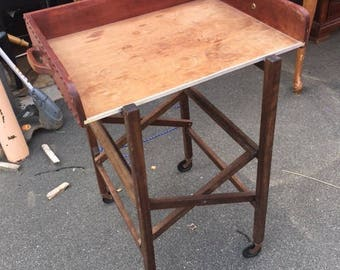 Vintage Butler tray with folding stand...FREE shipping!!!
