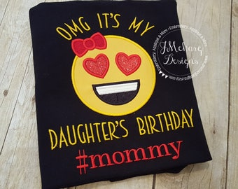 Family Birthday Emoji Applique shirt - Customizable -  Emoji Birthday Shirt 113a #mommy