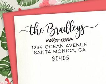 Custom Return Address Stamp, Calligraphy Stamp, Custom Stamp, Wedding Stamp, Address Stamp, Family Address Stamp, Address Stamp, Cute Stamp