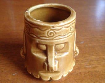 Vintage Tiki Head Ceramic Shot Glass