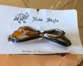 Vintage  hair bow slide clip ornament vintage 50s Hong Kong