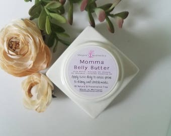 Momma Belly Butter - Pregnancy Belly Rub for Itchy Bellies - Belly Balm - Pregnancy Balm - Belly Rub - Blooming Belly Rub - Pregnancy Gift