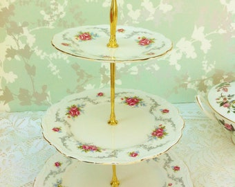 """Royal Albert """"Tranquillity"""" 3 Tier Cake Stand"""