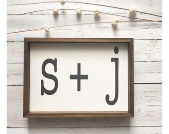 CUSTOM Initial | Home Decor Sign | Farmhouse