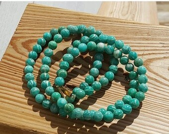 """SAVE 20% 1-16"""" Strand Genuine Natural Russian Smooth Amazonite Rounds 8mm (51 Beads)"""