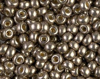 8/0 Duracoat Galvanized Pewter Miyuki Seed Beads, 4433, 8/0 Miyuki Duracoat Galvanized Pewter Seed Beads, 15 Grams, 8-4222 Pewter