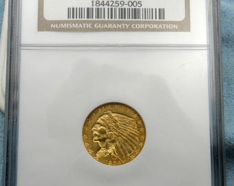 1926 Gold US 2.5dollar India Head Quarter Eagle Coin NGC mint state 63 Sku: USGC-1082