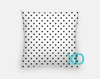 Polka Dot Pillow, Spotty Pillow Cover, Dots Pillow Case, Black and White Pillow, Artistic Design, Home Decor, Decorative Pillow Case, Sham