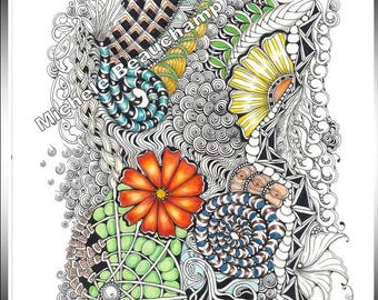 Zentangle Inspired Art - That's A Bit Bright