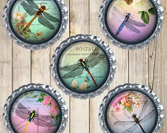Dragonfly magnets - Dragonfly decor - Dragonfly gifts - Earth magnets - Home decor - Memo board magnets - Home organization - Gifts for her