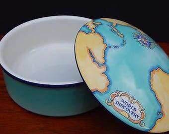 1.00 Dollar Shipping! Tiffany and Co. globe Trinket box