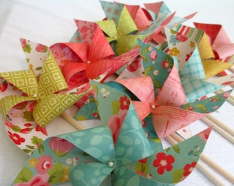 Wedding Decorations Paper Pinwheels Flowers Wedding Favors Wedding Guest Gifts Table Centerpiece Wedding Floral Decoration Bridal Shower
