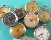 POCKET Watch  Lot 8 flash sale 8 Watches locket Antique watch for supplies, jewelry making altered art steampunk watches   COLLECT NUMBER 18