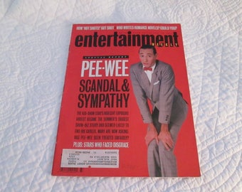 Pee Wee Herman magazine cover Entertainment weekly 1991