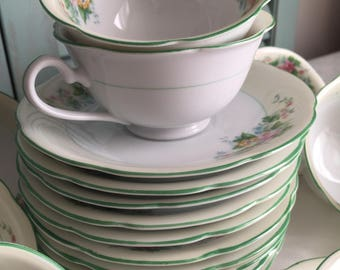Vintage Noritake Japan Teacups And Saucers Beautiful 1950's Floral China Tea Sets 11 Sets Available