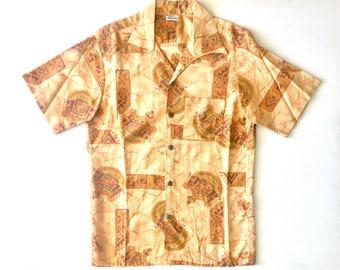HAWAIIAN SANDS Button Up Hawaiian Shirt. Sz M.