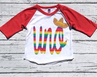 uno, Fiesta, Party,Sombrero,One,First Birthday,First Fiesta, Gender Neutral,Shirt,Photo Prop,Birthday Shirt, NEW DESIGN