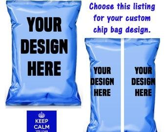 Custom Chip Bags-Treat Bags-Design Your Own Chip Bag-Custom Treat Bags