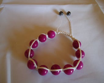 Pink natural turquoise Beads Bracelet