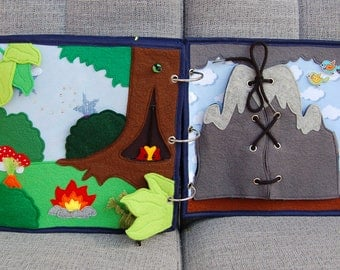 PATTERN & TUTORIAL 2 Quiet book pages Knightbook - Enchanted forest and Vulcano