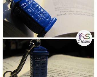 Keychain blue Tardis (DR WHO)