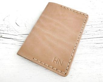 Leather Passport Cover, Passport Holder, Personalized Gifts for Travelers, Personalized with Name, Initials, Travel Gifts For Travelers