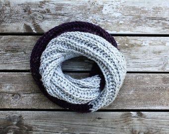 Chunky Knit Brioche Cowl / Chunky Knit Brioche Infinity Scarf / Chunky Wool Knit Scarf / Chunky Knit Infinity Scarf / Handmade Knit Scarf