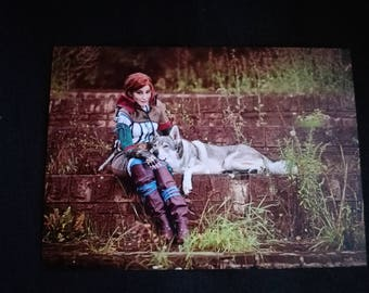 Witcher Triss cosplay print 5x8in