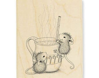 PRE-ORDER New Release Stampendous House Mouse Warm Drink Rubber Stamp