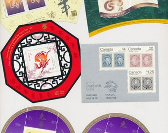 Canada Mint Never Hinged Stamp Collection See all 4 scans! Lunar Animals and more