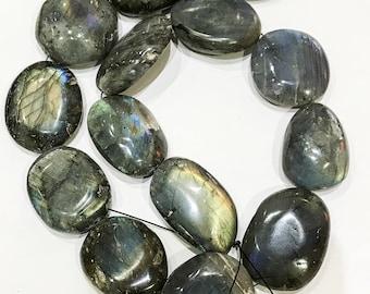 Large Labradorite Beads