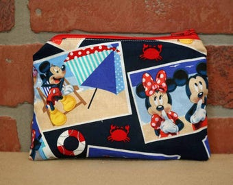 One Snack Sack, Reusable Lunch Bags, Waste-Free Lunch, Machine Washable, Mickey and Minnie Mouse, Back to School, School Lunch, item #SS86