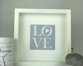 Personalised LOVE framed print | wedding, anniversary and engagement gifts | Personalised gift