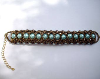 Bracelet turquoise seed beads