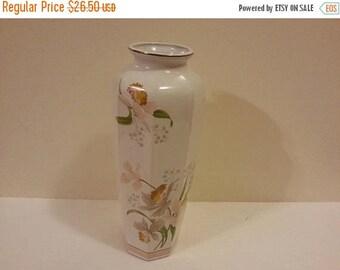 Ceramic Floral Pattern Vase made in Japan