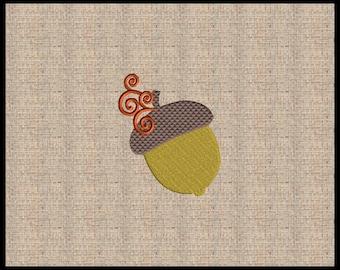 Acorn Embroidery Design Mini Acorn Machine Embroidery Design Fall Embroidery Design Thanksgiving Embroidery Design 6 sizes