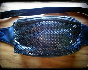 Black fanny pack with shimmer