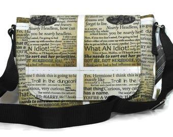 Harry Potter Fabric Bag - Philosophers Stone - Messenger Bag - Everyday bag - Harry Potter Gift - Book Bag -  Geeky gift - Harry Potter Bag