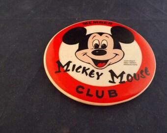 Walt Disney Productions Mickey Mouse Club Member Pinback Pin