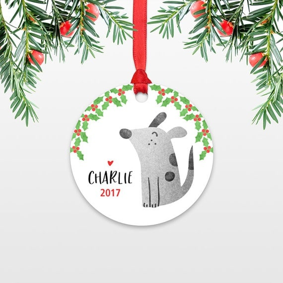 Dog Kids Personalized Christmas Ornament Child Name Christmas Ornament Pet Stocking Stuffer for Kids Ornament Dog Stocking Stuffer for Teens