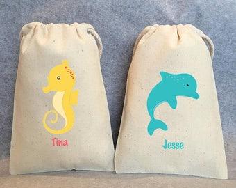 "21- Under the Sea, Under the sea party, Sea animal party, Sea animal party favor bags, 4""x6"""