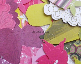 43 x paper for scrapbooking embellishments
