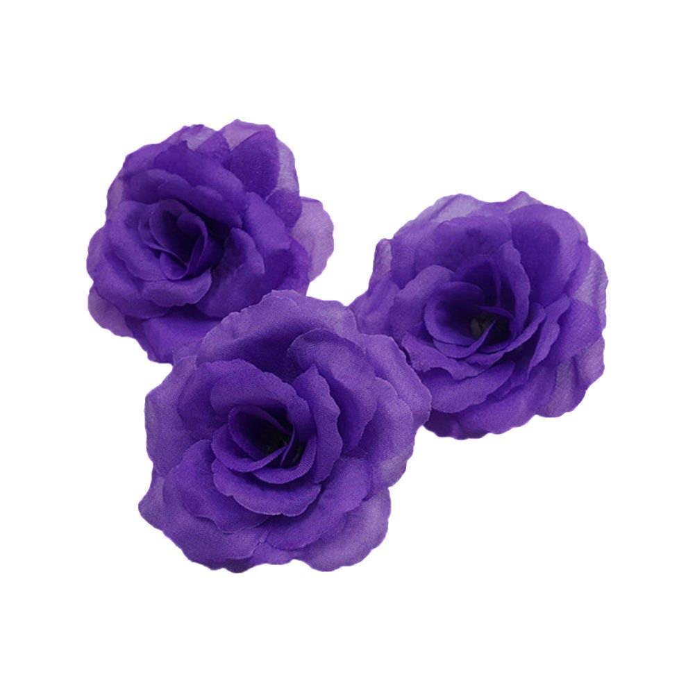 Wholesale Silk Flowers Rose Heads Artificial Flower Heads 3 Bulk