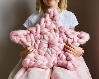 Giant Merino Wool Star Cushion