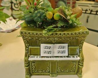 Funky Old Relpo Piano Music Box Planter