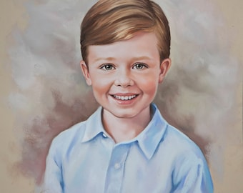 Pastel portrait, Portrait painting of a boy, Children portraits and Pastel portraits, custom portrait, Commissioned Pastel portrait