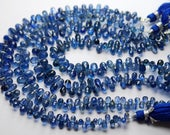 8 Inch Strand,Finest Quality,Natural Blue KYANITE Faceted Tear Drops,8-6mm size