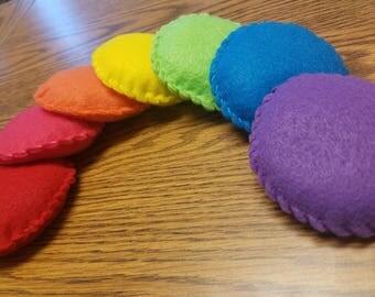 Rainbow Bean Bags - Set of 7